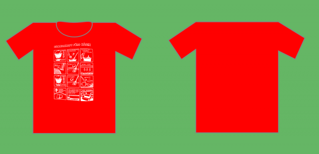 Cheese t shirt with back 2014.png