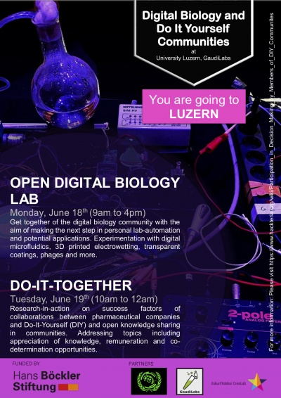 Digital biology and do it yourself diy communities gathering posteragenda p1g solutioingenieria Choice Image