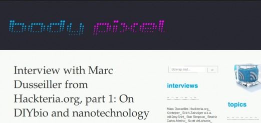 Interview on Homemade Nano and DIY bio by body pixel