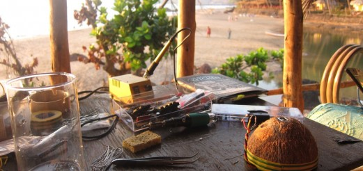 """Soldering Beach"" field research in Goa"