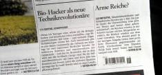 "Article on Biohackers in ""Schweiz am Sonntag"""