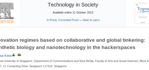 """Synthetic biology and nanotechnology in the hackerspaces"", D. Kera 2013"