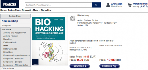 """Biohacking – Gentechnologie für alle"" by Rüdiger Trojok released"