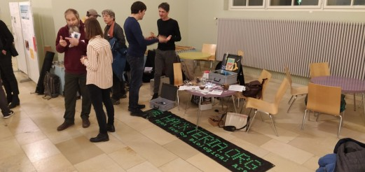 "HACKTERIA visits Projektatelier of the ""Partizipative Wissenschaftsakademie"""