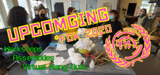 Upcoming activities towards the end of 2020