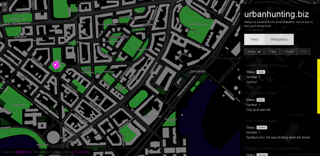urbanHunting_app